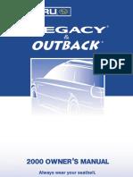 2000 Subaru Legacy Owners Manual