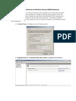 Servidor de Archivos en Windows Server 2008 Enterprise