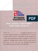Real Estate, A Preferred Asset Post COVID-19