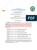 Road Safety ordinance template