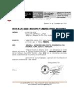 MEMORIA ANUAL AÑO 2020 DE LA CR PNP SONDOR.