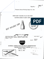 Preflight Training Plan for First Manned Gemini Flight Crew