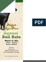 Blackjack Angus Farms Annual Bull Sale Catalog 2011