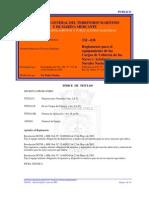 Reglamento para el Equipamiento de los Cargos de Cubierta de las Naves y Artefactos Navales Nacio