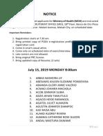SRO Delegation  July 15-19, 2019