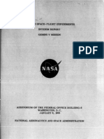 Manned Space-Flight Experiments Gemini V Mission