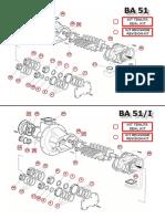 Part list Tri AB51 (BA51) ремкомплекты