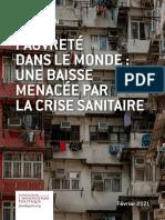 Fondapol Etude Pauvrete Dans Le Monde Une Baisse Menacee Par La Crise Sanitaire Julien Damon 02 2021