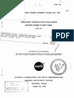 Preflight Training plan for Fourth Manned Gemini Flight Crew (GTA-6)
