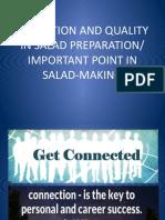 SANITATION AND QUALITY IN SALAD PREPARATION (salad 4)