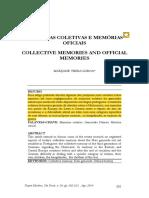 Memórias coletivas e memórias oficiais - LISBOA, Marijane Vieira - Revista Projeto História - SP 2014
