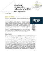 Cognitive-behavioral treatment of obsessive compulsive disorder in a child with Asperger syndrome