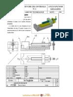 Devoir de Contrôle N°2 - Technologie dessin technique ve reglable - 1ère AS  (2011-2012) Mr sellami (2)