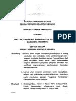 KEPMENPAN2000_042-Jabfung Administrator Kesehatan Dan Angka Kreditnya