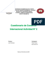 Comercio Internacional activ. 2, corte 2