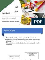 Aula 1. Avaliação Nutricional e risco nutricional