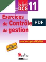 DCG 11 Exercices de contrôle de gestion avec corrigés détaillés 2014-2015 by Christelle BARATAY (Team Nkongbibega)