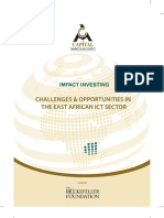 Impact Investing; Challenges & Opportunities In The East African ICT Sector
