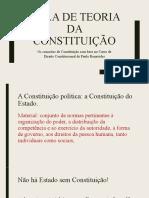 Aula de Teoria Da Constituição.paulo Bonavides. Os Conceitos de Constituição