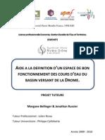 J. RUSSIER & M. BELLINGER - Rapport Projet Tuteuré, Syndicat Mixte Rivière Drôme