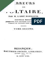 Erreurs de Voltaire (tome 2)