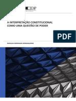 A Interpretacao Constitucional Como Uma Questao de Poder Versao Artigo Capa 0