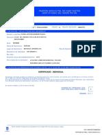Certificado empadronamiento - Danel