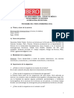 Programa Historiografía Contemporánea. P2021