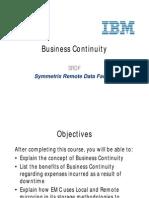 Business Continuity SRDF