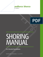 Shoring Manual for Sheeted Excavations 2018