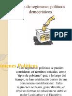 Tipos de regímenes políticos democráticos