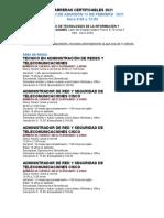 CARRERAS CERTIFICABLES CTI 2021