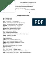 Lista de acrónimos ITED4