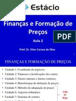 2ª Aula - Finanças e Formação de Preços - Unidades 5 a 8