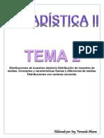 TEMA 2  Distribuciones Muestrales ESTADISTICA II
