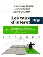 Agnès BENASSY-QUÉRÉ, Laurence BOONE, Virginie COUDERT - Les Taux d'Intérêt-La Découverte (2003)