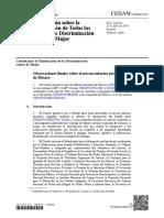 CEDAW (2018) Observaciones finales sobre el noveno informe periódico de México
