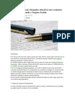 PLANO de SAÚDE-As Dez Principais Cláusulas Abusivas Nos Contatos de Plano de Saúde e Seguro Saúde