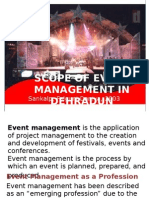SCOPE OF EVENT MANAGEMENT IN DEHRADUN