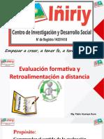 Evaluación formativa y retroalimentación