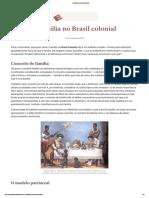 A Família No Brasil Colonial