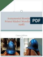 Armamentul Romaniai in primul razboi mondial
