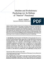 Buller - Individualism and Evolutionary Psychology, Narrow Functions - Philsci 1997