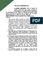 REGLA FUNDAMENTAL DE LA HERMENEUTICA