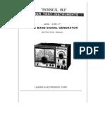 Leader Lsg-17 0.1..150mhz Signal Generator