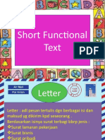 Short Functional Text. PPt.