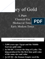 History of Gold - Part 1