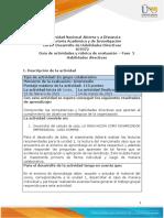Guía de actividades y rúbrica de evaluación – Fase 2 - Habilidades directivas