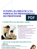 O papel da didática na formação do professor