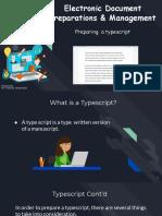 Preparing a Typescript